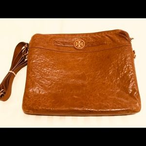 Tory Burch Brown Leather Laptop Bag